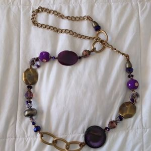 🔥$5 clearance🔥Gold purple necklace